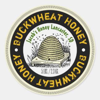 Beehive Buckwheat Honey Customized Honey Jar Label