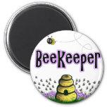 beekeeper 6 cm round magnet