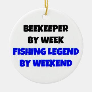 Beekeeper by Week Fishing Legend by Weekend Christmas Ornament