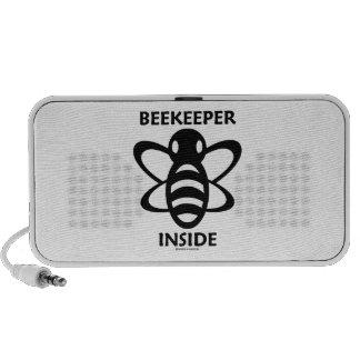 Beekeeper Inside (Black White Bee Drawing) Mini Speakers