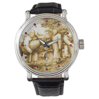 BEEKEEPERS AND HONEY BEE HIVES WRISTWATCH