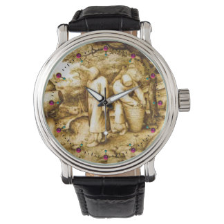 BEEKEEPERS AND HONEY BEE HIVES WRISTWATCHES