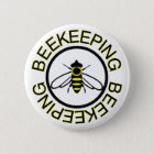 Beekeeping 6 Cm Round Badge