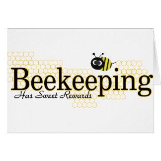 beekeeping sweet rewards greeting cards