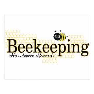 beekeeping sweet rewards post card