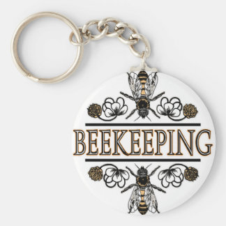 beekeeping with worker bees key ring