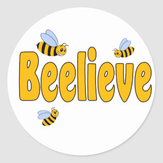 Beelieve Classic Round Sticker