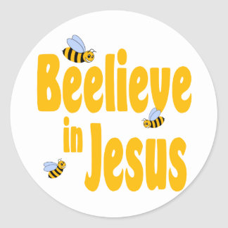 Beelieve in Jesus Classic Round Sticker