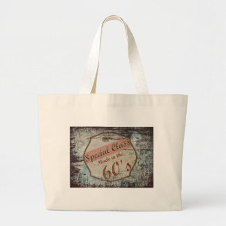 Been born in the decade of 60 jumbo tote bag