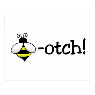 Beeotch Postcard