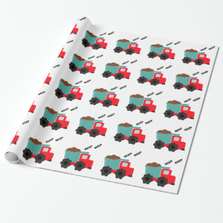 Beep Beep Dump Truck wrapping paper