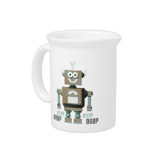 Beep Boop Toy Robot Pitcher