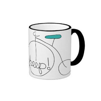 beep doodle bicycle ringer mug