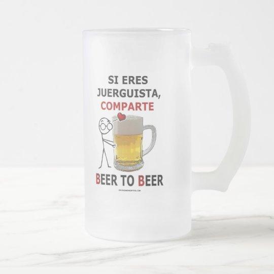 Beer 2 Beer Frosted Glass Beer Mug