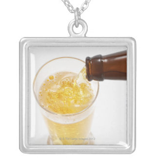 Beer 2 silver plated necklace