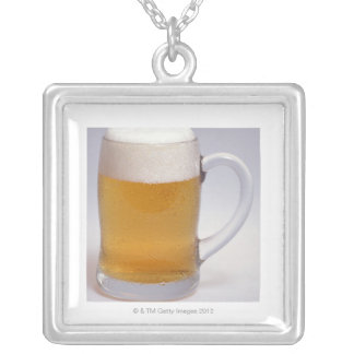 Beer 3 silver plated necklace