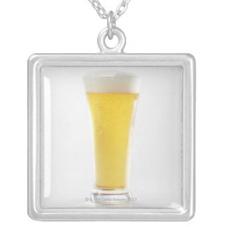 Beer 5 silver plated necklace
