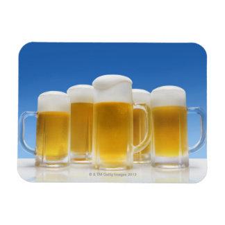 Beer 6 rectangular photo magnet