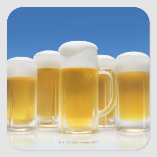 Beer 6 square sticker