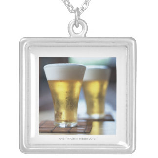 Beer 7 square pendant necklace