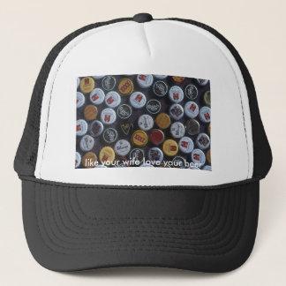 beer-89jh[1], like your wife love your beer trucker hat
