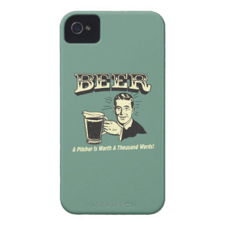 Beer: A Pitcher Is Worth 1000 Words iPhone 4 Case-Mate Cases