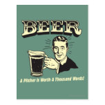 Beer: A Pitcher Is Worth 1000 Words Postcard