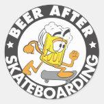 Beer After Skateboarding Sticker
