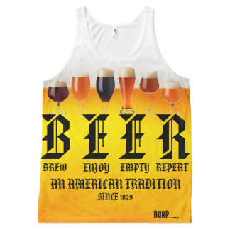 BEER All-Over PRINT TANK TOP
