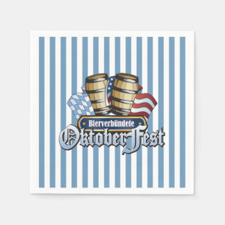 Beer Allies Oktoberfest Party Paper Napkins Paper Napkin