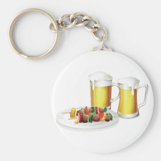 Beer And Barbecue Keychain