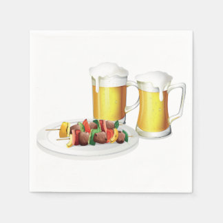 Beer And Barbecue Paper Napkins