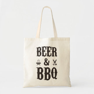 Beer and BBQ Budget Tote Bag