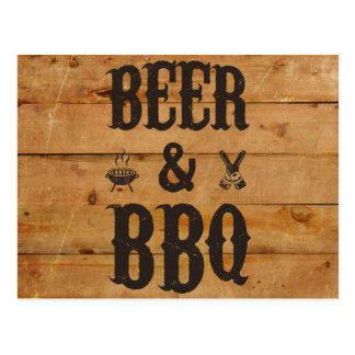 Beer and BBQ Postcard