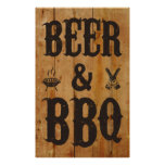 Beer and BBQ Poster