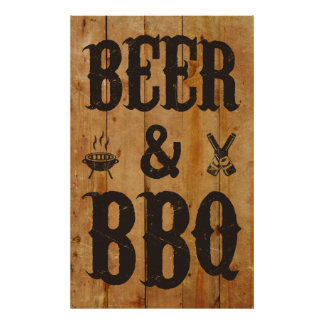 Beer and BBQ Posters