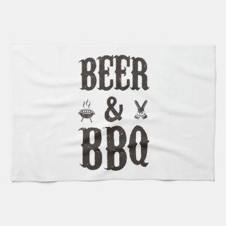 Beer and BBQ Tea Towel