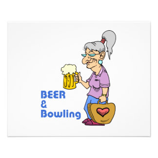 beer and bowling grandma 11.5 cm x 14 cm flyer