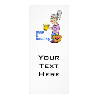 beer and bowling grandma personalized rack card