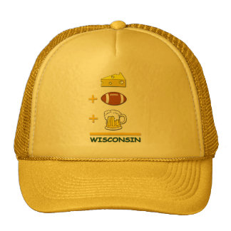 Beer and Cheese with Football is Wisconsin Funny Cap