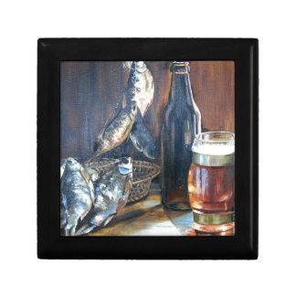 Beer and fish gift box