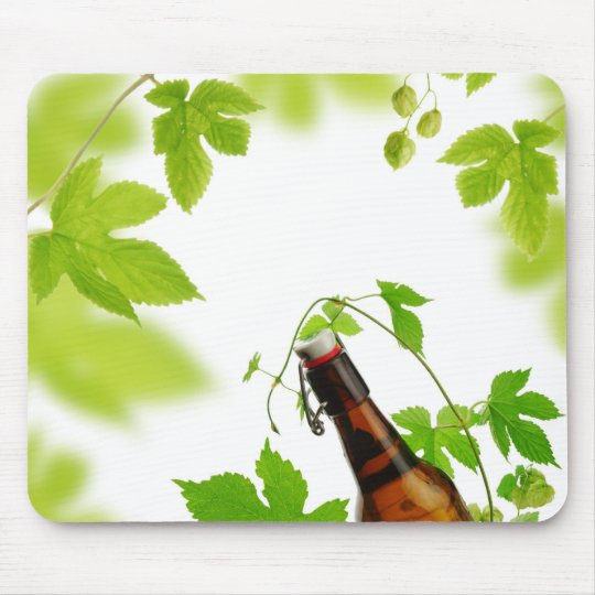 Beer and Fresh Hops Mouse Mat