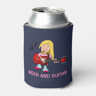 Beer and Guitar Can Cooler