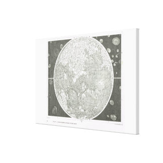 Beer and Madler's map of the moon Canvas Print