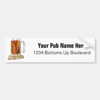 Beer and Peanuts Bumper Sticker