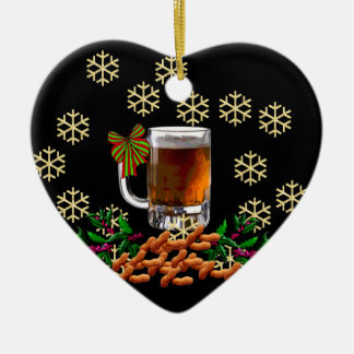Beer and Peanuts Christmas Ornament