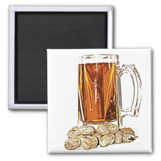 Beer and Peanuts Refrigerator Magnet
