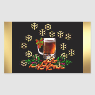Beer and Peanuts Rectangular Sticker