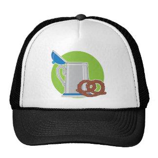 Beer and Pretzel Mesh Hats