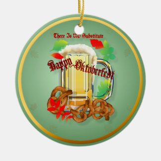Beer and Pretzels-There is NO substitute.  Orname Christmas Ornament